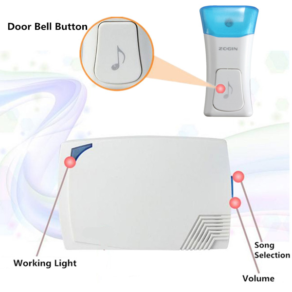 16 Songs Wireless Waterproof Digital Doorbell Music Chime Alarm