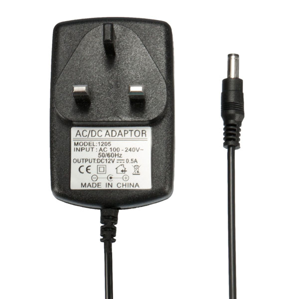 AC Wall 100-240V To DC 12V 0.5A 5.5x2.1mm Power Supply Charger Adapter UK Plug