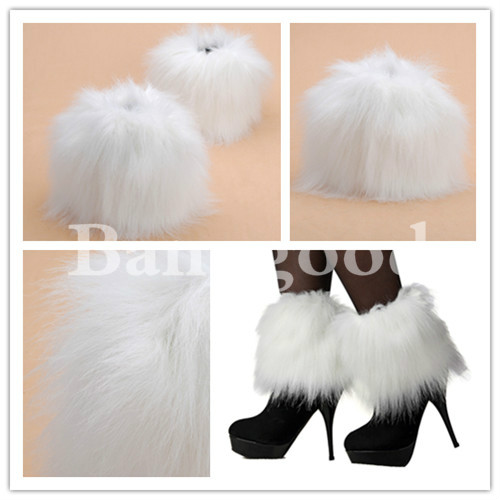 Lady Fur Ankle Lower Leg Boots Sleeve Cover