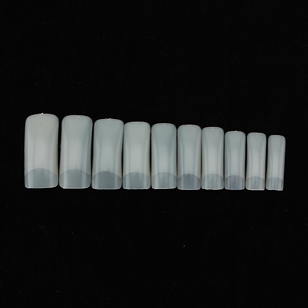 500 Nude Artificial False Acrylic Gel Nail Art Half Tip
