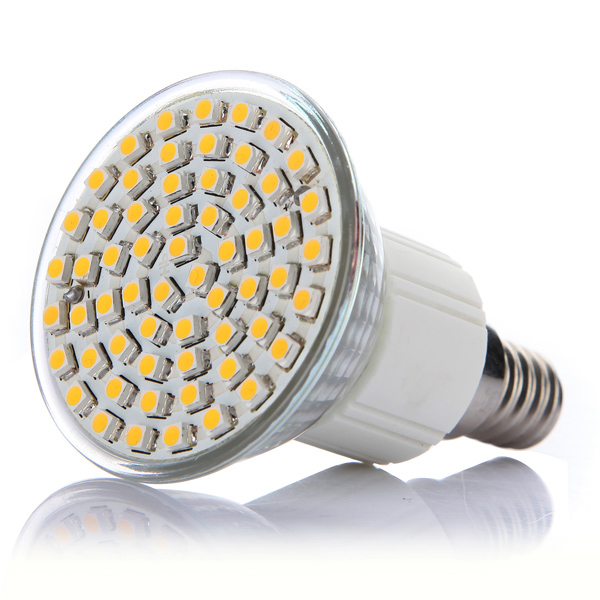 E14 4W Warm White 60 SMD 3528 LED Spot Lightt Bulb 220-240V