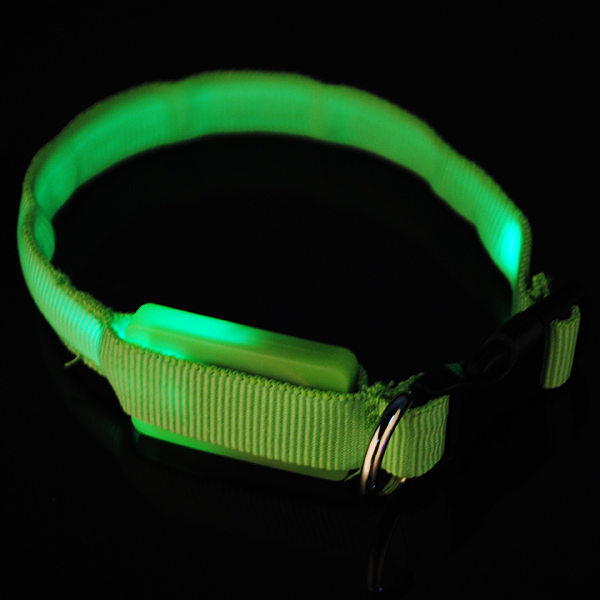 LED Dog Pet Flashing Light Up Safety Collar Multi-Color