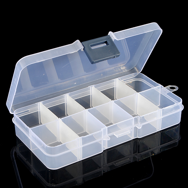 3Pcs Detachable Compartment Empty Storage Case Box 10 Cells For Nail Tip Gems Little Stuff