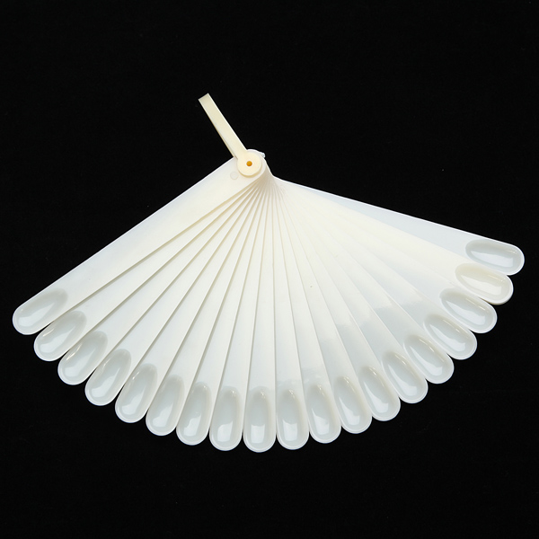 20x Lvory Nail Art Tips Polish Display Stick Fan Board