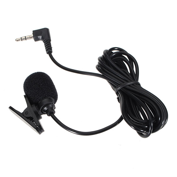 3.5mm Hands Free Clip On Mini Microphone For PC Laptop