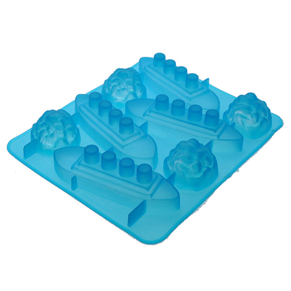 Silicone Titanic Shaped Ice Cube Trays Carving Mold Cookie Mold Multifunction Bar Tool