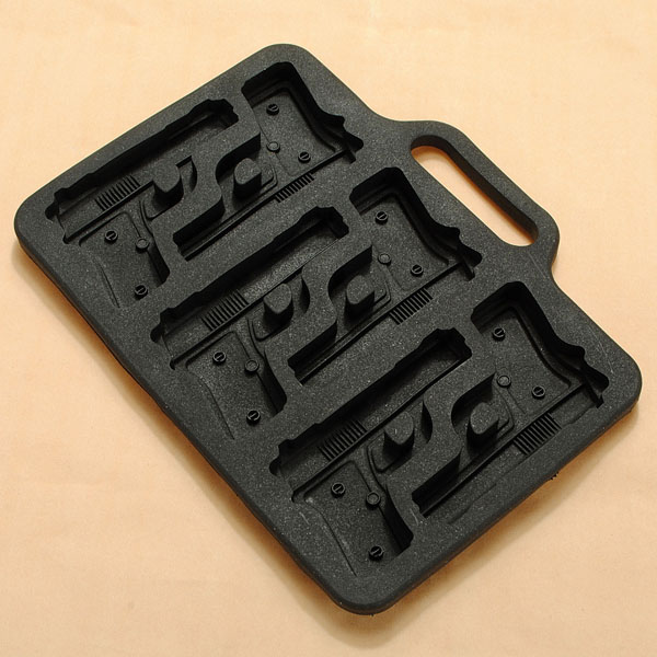 Gun Pistol Freeze Party Bar Ice Jelly Silicone Mold