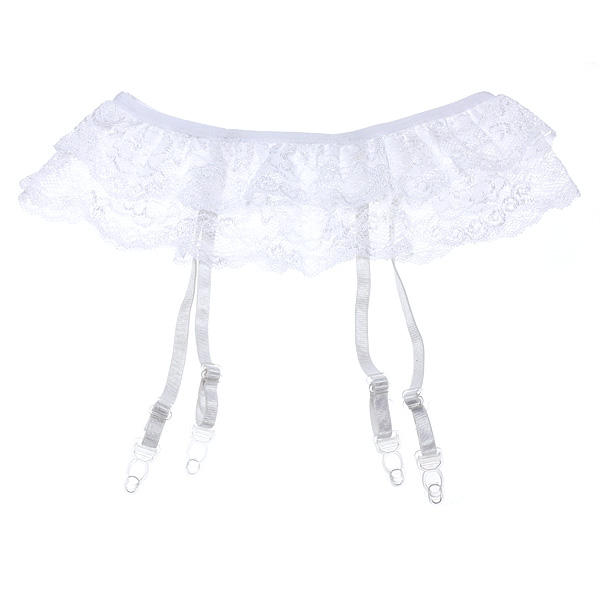 Lady Floral Lace Lingerie Suspender Skirt For Stocking
