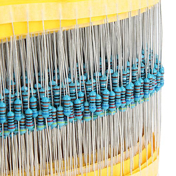 600pcs 30 kinds value 1% 1/4w metal film resistor assorted kit 20pcs each value