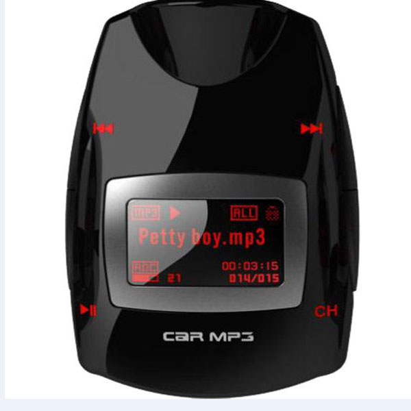 Wireless FM Transmitter LCD Screen Car MP3 Player with Remote Control