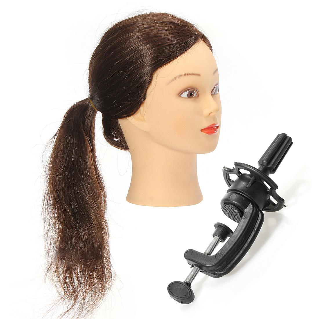80 Percent Human Hair Hairdressing Training Head Practi