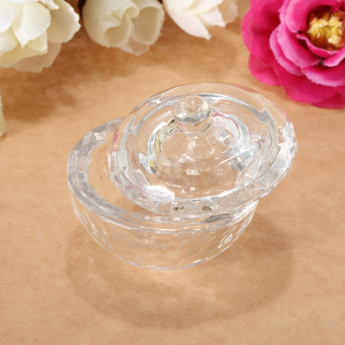 Glass Crystal Cup Dish Arcylic Nail Art Liquid Powder Container