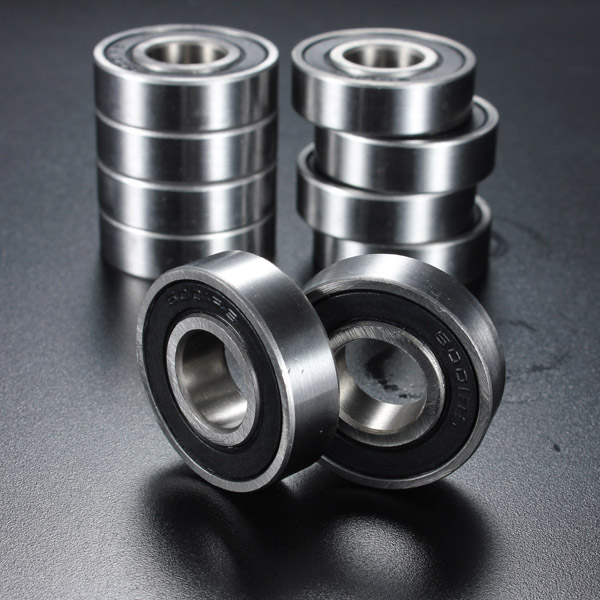 10Pcs 6001-2RS 12x28x8mm Rubber Sealed Deep Groove Ball Bearing