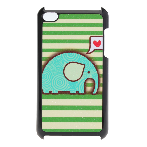 Lovely Cute Cartoon Elephant Pattern Back Case For iPod