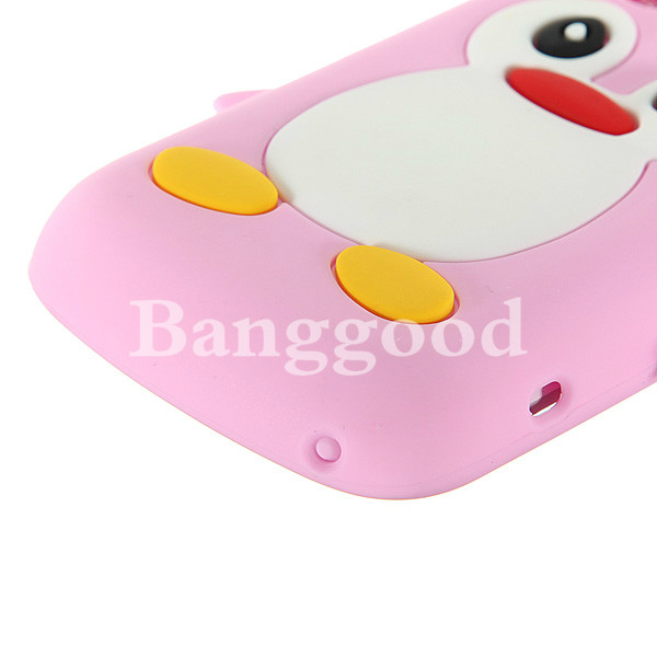 Penguin Series Soft Silicone Cover For Blackberry Bold 9700 9780 9020
