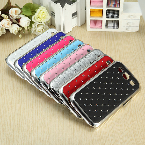 Rhinestone Bling Chrome Plated Hard Case For Samsung Galaxy S3 I9300