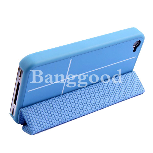Magnetic Adsorption Smart Cover Multi-function Stand Case For iPhone 4 4S