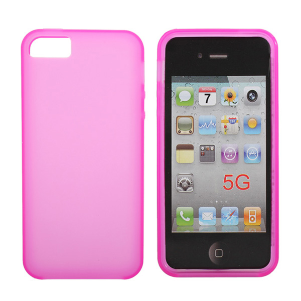 Pure Colors Silicone Soft Back Gel Case For iPhone 5 5G 5S
