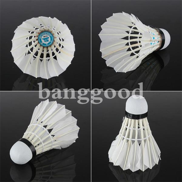 6 x White Goose Feather Badminton Ball Game Sport Training