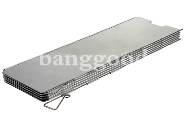 10 Plates Fold Outdoor Camping Cooker Stove Wind Shield Screen Silver