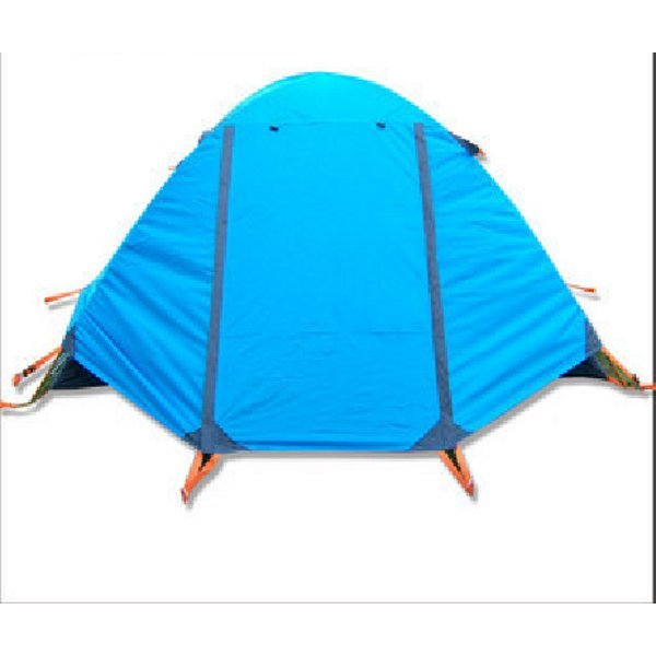 2-3 camping family tent with two layers and double door