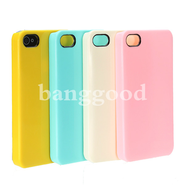 Ice Cream Colorful Ultra Thin Smooth Snap On Case For iPhone 4 4S