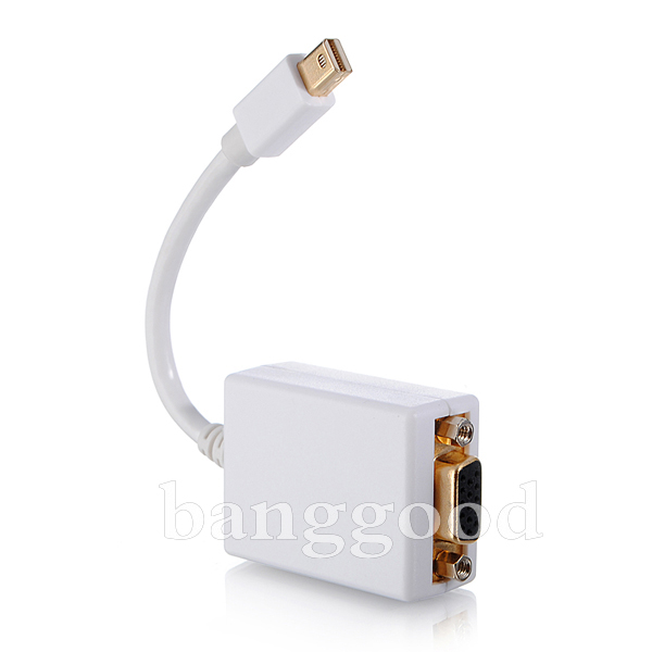 Mini Display Port Male to VGA Female Adapter for Macbook Pro Air
