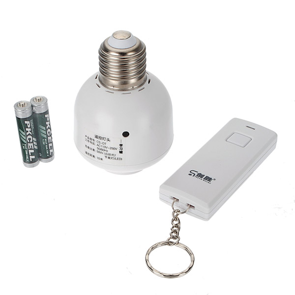Best-selling E27 to E27 Remote Control Light Bulb Socket AC 110-250V