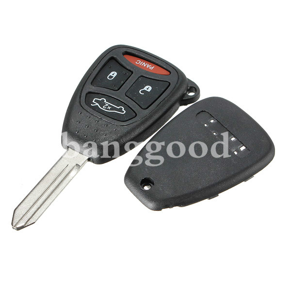 Remote Key Replacement Case Shell And Pad Combo for Dodge Chrysler