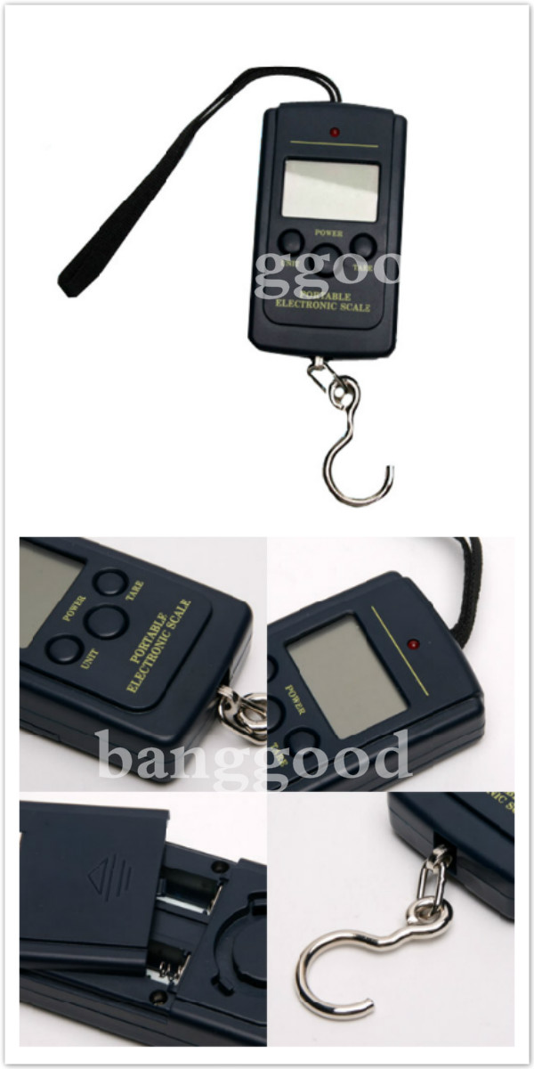 10G x 40KG Digital Hanging Luggage Fishing Weight Scale