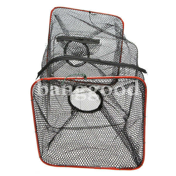 ZANLURE Foldable Zips-One Crab Minnow Crawdad Shrimp Fishing Trap Cast Net