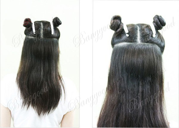 Women Long Curl Clip In Synthetic Hair Extension Hairpiece