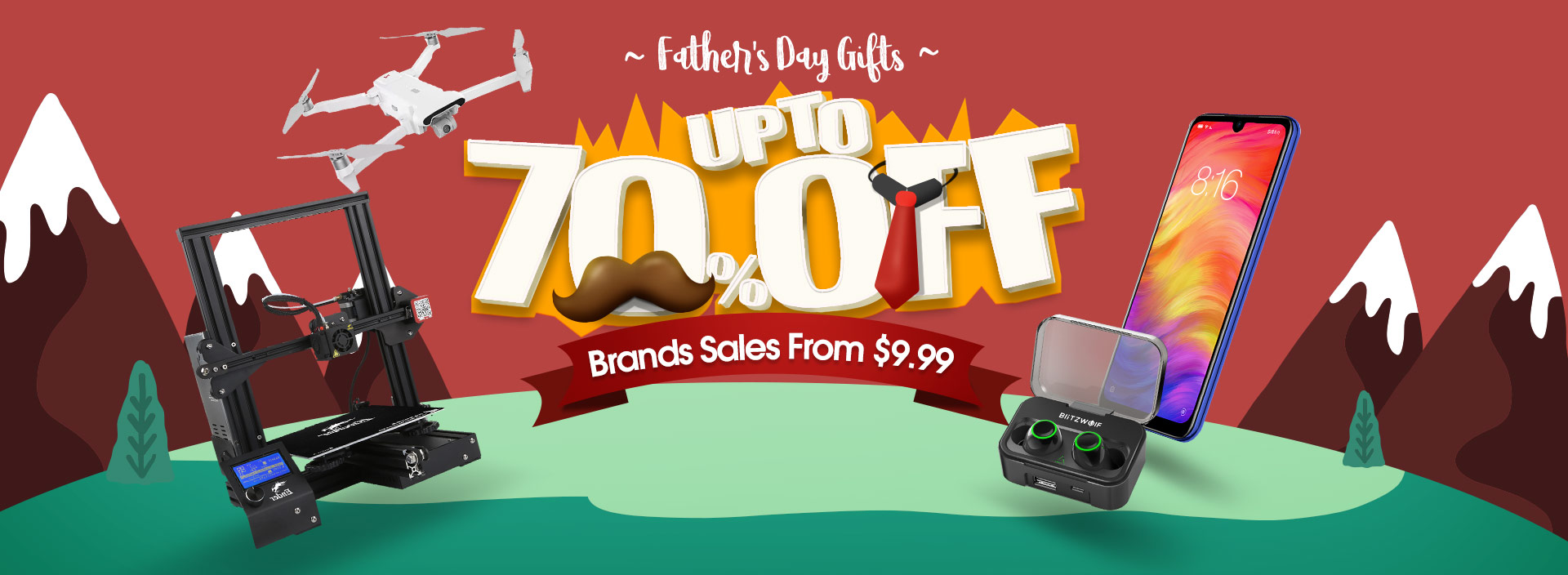 Banggood father's day promotion
