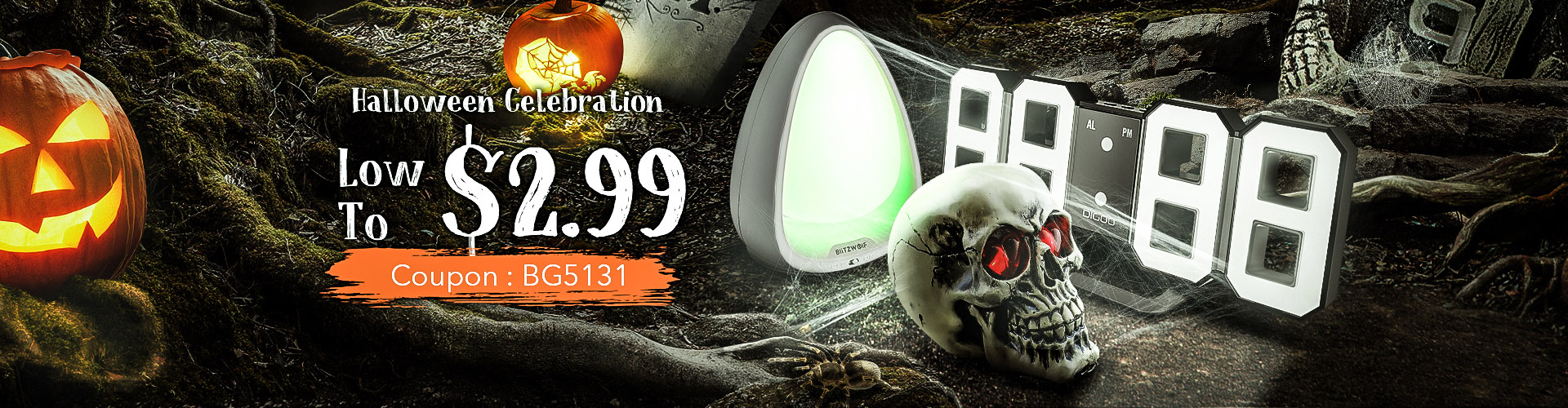 15% OFF For Home Halloween Supply