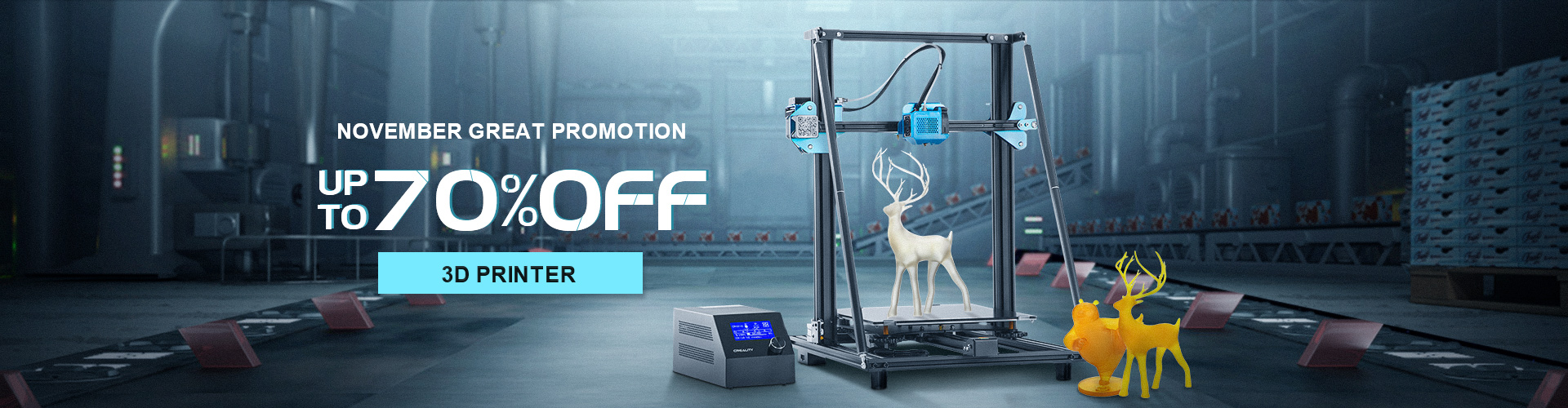 UP to 70%OFF for 3D Printer&Supplies November Great promotion
