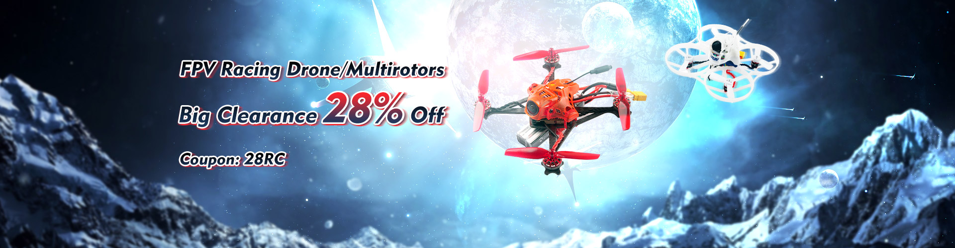 28% Off Big Clearance For FPV Racing Drone/Multirotors