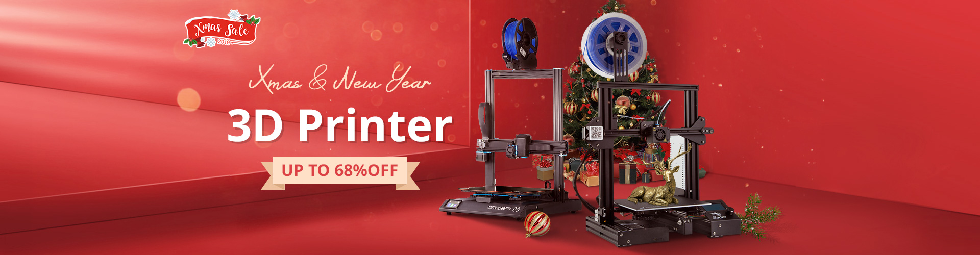 UP to 68% OFF for 3D Printer & Supplies