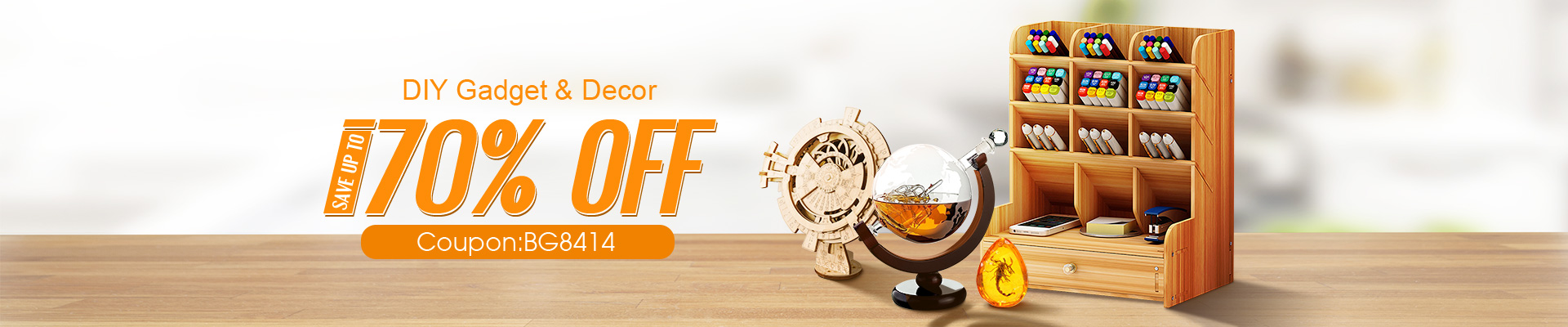 15% OFF for DIY Gadget and Decor
