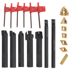 Machifit 7pcs 12mm Shank Turning Tool Holder with Insert