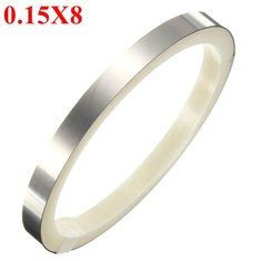 2M 0.15x8mm Nickel Plated Steel Sheet Strap Tape Strip For Battery Spot Welding