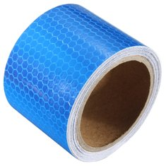 3mX50mm Blue Reflective Safety Warning Conspicuity Tape Film Sticker