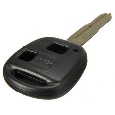 2 Button Remote Key Case Shell Uncut Blade For TOYOTA YARIS COROLLA