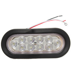 Sealed 6 Inch Oval 10 LED Car Tail Light Rear Stop Turn Lamp