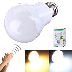 E27 3W 5730SMD LED Induction Lamp Voice and Light Control 110-220V