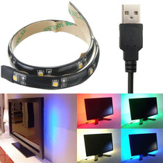 LED Strip 30CM Light 3528 Waterproof With USB Port Cable Super Bright DC 5V