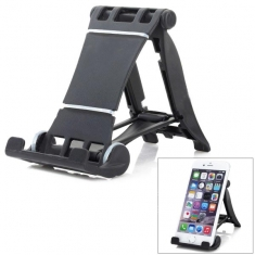 Universal 90 Rotation ABS Desktop Holder For iPhone iPad Cell Phone