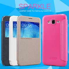 NILLKIN NEW LEATHER CASE-Sparkle Leather Case for Samsung Galaxy J7