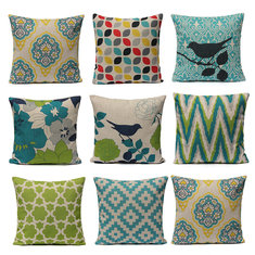 Fresh Style Pillow Cushion Linen Cotton Cushion Cover
