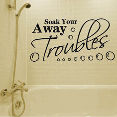 Bathroom Wall Sticker Soak Your Troubles Away Pattern Decoration