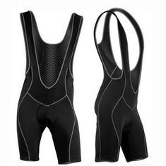 Men's Cycling Bib Shorts Bicycle Bike 3D Coolmax Padded Braces Pants